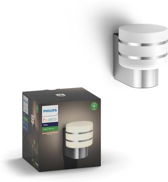 Philips Hue Tuar - Wandlamp - 1 Lichtpunt - RVS  - 1 x 806lm