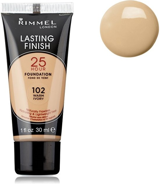 Rimmel - Lasting Finish 25 HR - Foundation - 102 Warm Ivory
