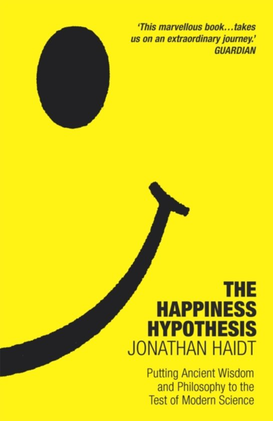 Boek cover Happiness Hypothesis van Jonathan Haidt (Paperback)