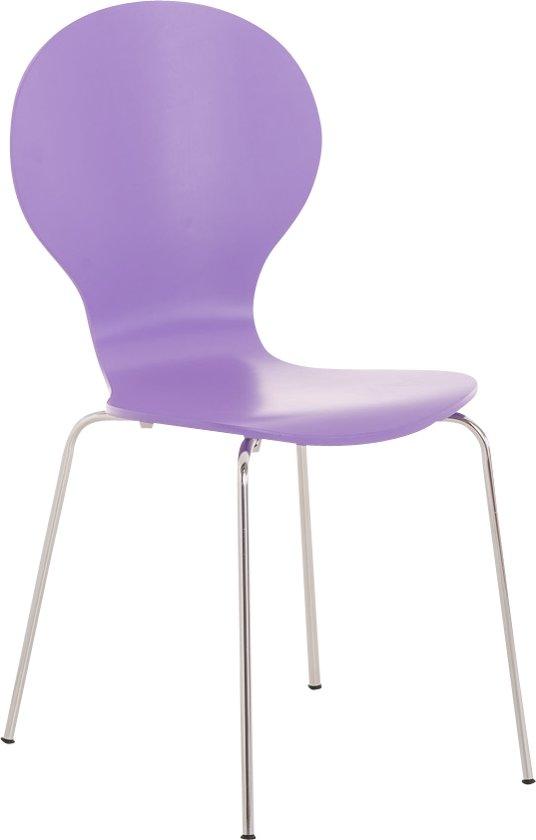 Clp DIEGO - Wachtkamerstoel - stapelbaar - lila