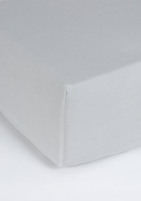 Nightlife Jersey Hoeslaken Grijs-160/180 x 200 cm
