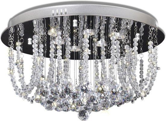 Stijlvol Kristallen Hanglampen : Bol vidaxl led plafondlamp met kristallen kroonluchter