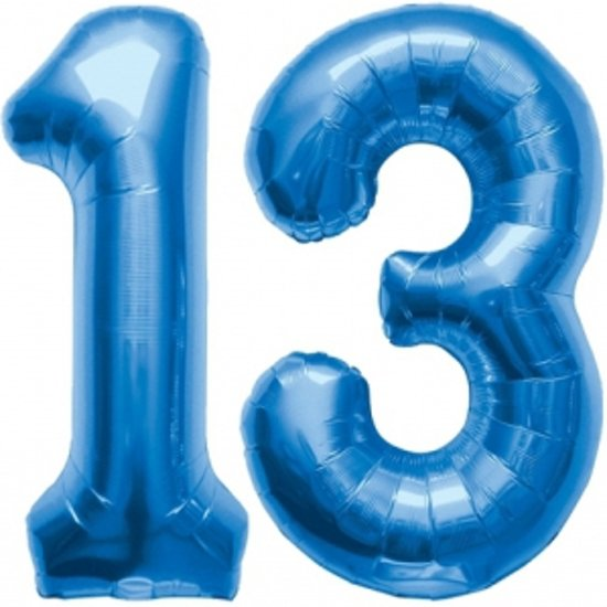 13 jaar bol.  13 jaar folie ballonnen blauw, Fun & Feest Party Gadgets  13 jaar