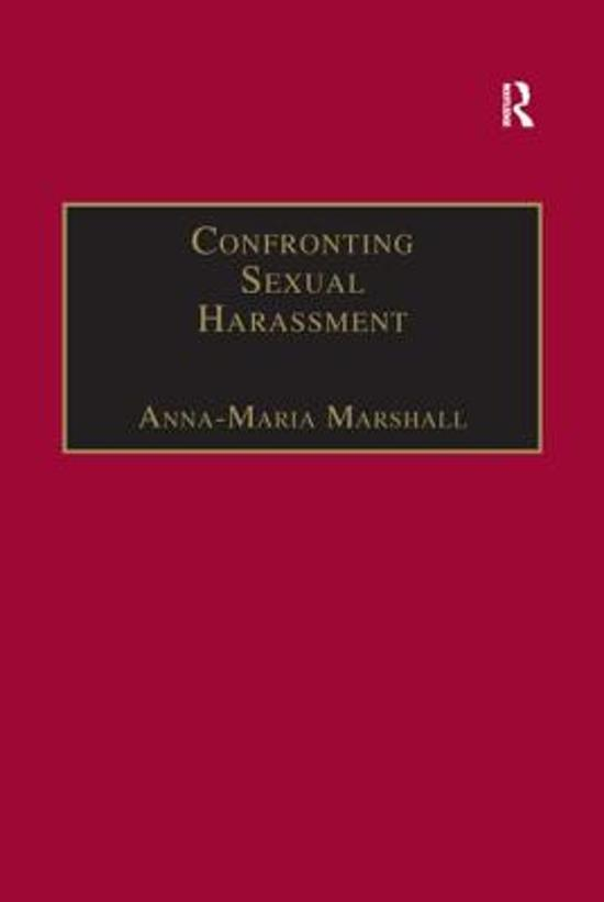 Confronting Sexual Harassment - Anna-Maria Marshall
