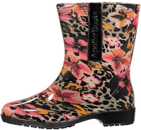 df1082b587cf9a bol.com | Halfhoge dames regenlaarzen luipaard/bloemen print 39