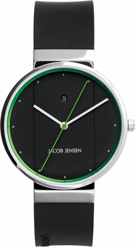 Jacob Jensen 757 horloge heren - zwart - edelstaal