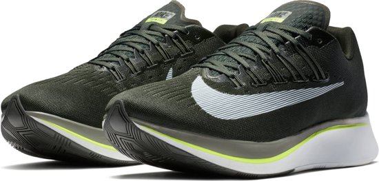 Nike Zoom Fly Hardloopschoenen Heren - Sequoia/White-Med Olive-Dk Stu - Maat 40