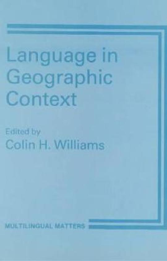 Language in Geographic Context