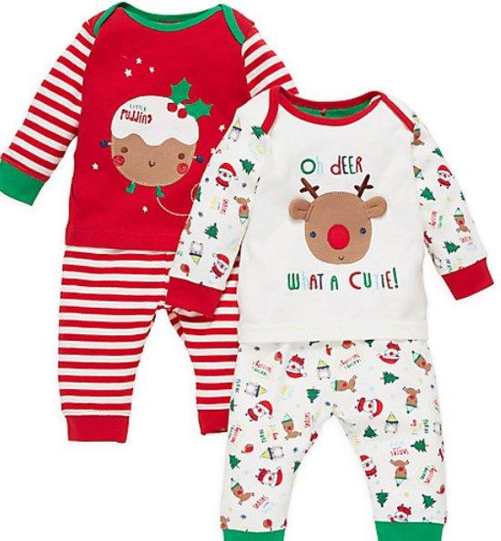 Babykleding Voor Kerst.Bol Com Kerst Pyjama Huispakje Maat 50 56
