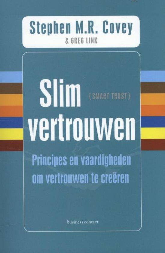 Boek cover Slim vertrouwen van Stephen M.R. Covey (Paperback)