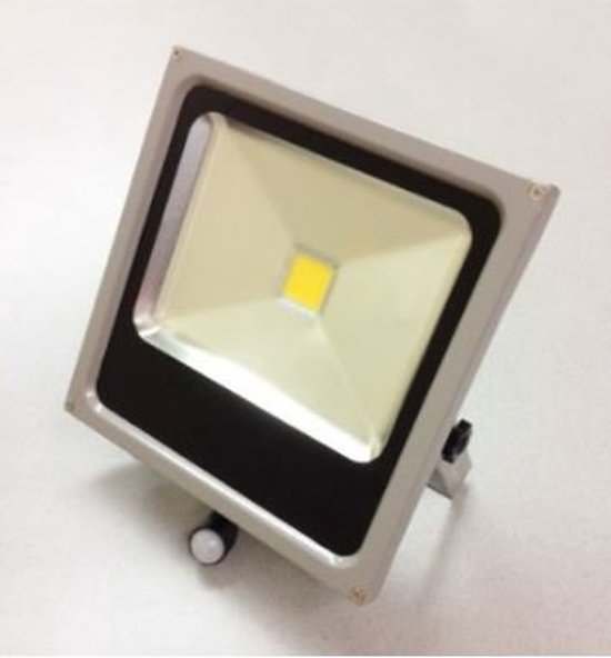 PROFILE LED straler flat - 30W - met bewegingsmelder - IP44 - grijs