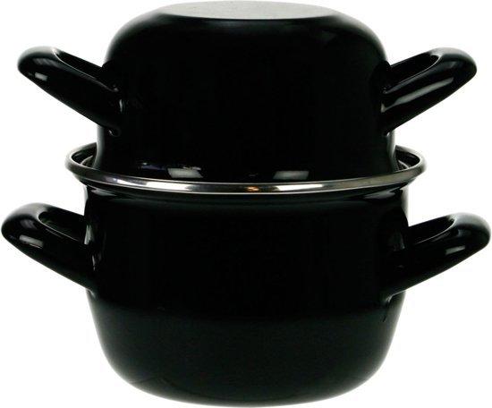 Cosy&Trendy Mosselpan - Ø 24 cm - 2,6 kg - Zwart - Geschikt voor Inductie Valentinaa