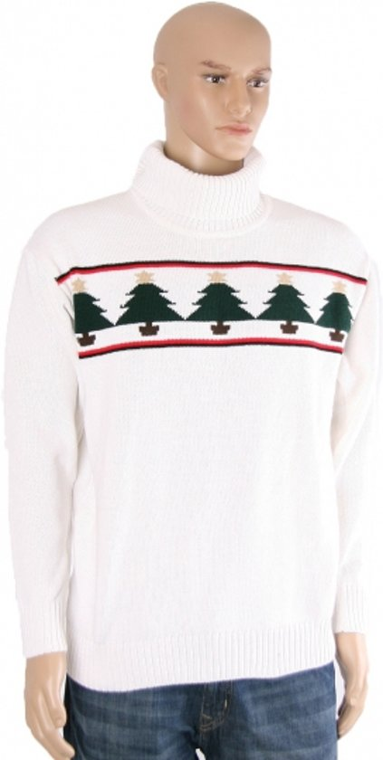 Witte kerst ski polo S