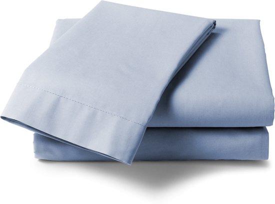HnL Living - Laken - Katoen Perkal - 160 x 260 cm - Ijsblauw