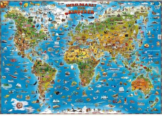 Bol wereldkaart voor kinderen wereldkaart voor kinderen altavistaventures Images