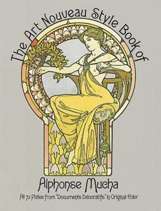 Book Cover Art Styles : Bol the art nouveau style book of alphonse mucha
