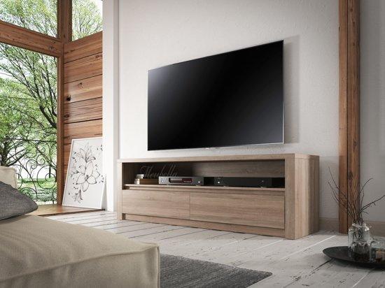 Meubella - TV Meubel Monaco - Truffel Eiken - 130 cm