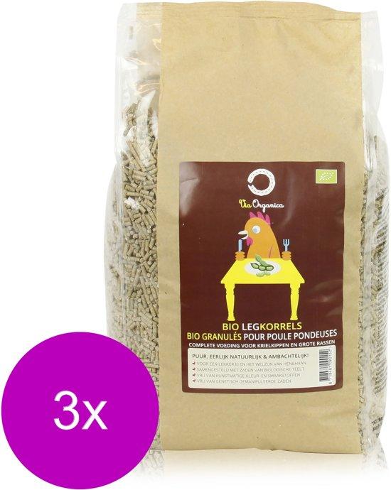 Via Organica Bio Legkorrels - Kippenvoer - 3 x 4 kg Bio