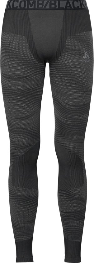 Odlo Suw Bottom Pant Performance Blackcomb Thermobroek Heren - Black-Concrete Grey