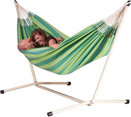 Hangmatset: 2-persoons hangmat CAROLINA spring + 2-persoons hangmat Standaard NEPTUNO
