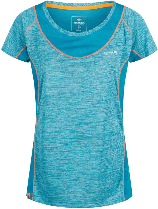 Regatta-Wmns Breakbar IV-Outdoorshirt-Vrouwen-MAAT S-Blauw