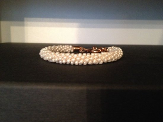 Armband Rocailles met ivoor parelglans