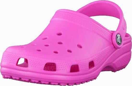 c037c8e4bdf Crocs - Classic - Sportieve slippers - Dames - Maat 38 - Roze - 6L0 -