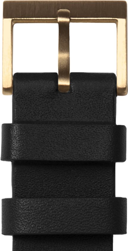 Tube watch T32 brass / black leather strap