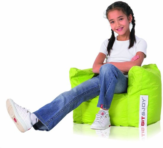 Sit And Joy Childrens Chair.Sit En Joy Children Chair Zitzak Lime