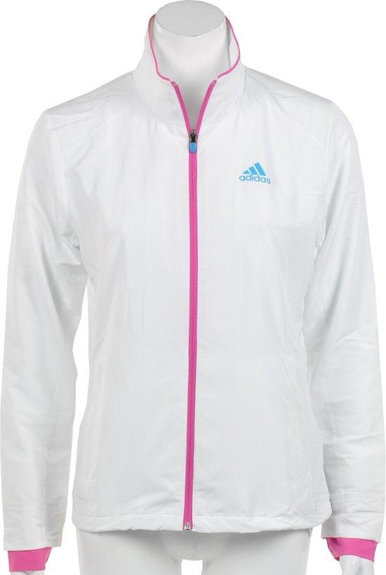 c59a56c98d4 adidas Women's Barricade Woven Track Jack - Sportshirt - Dames - Maat 44 -  Wit;