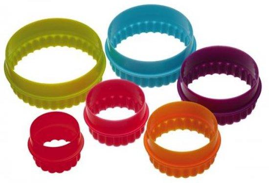 Set van 6 uitstekers - dubbelzijdig cirkel/rond - Colour Works