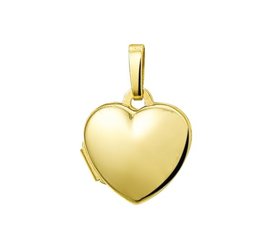 The Jewelry Collection Medaillon Hart - Goud 14 Karaat - 11 x 10 mm