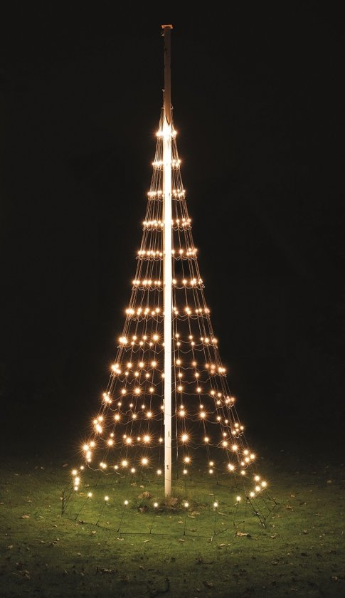 nordik lights 4 meter kerstboom voor in de vlaggenmast 312 led