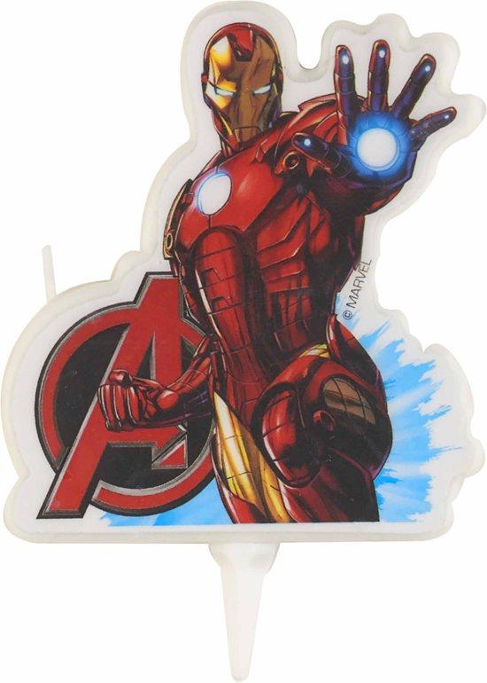 Iron Man™ Avengers™ verjaardagskaars - Feestdecoratievoorwerp