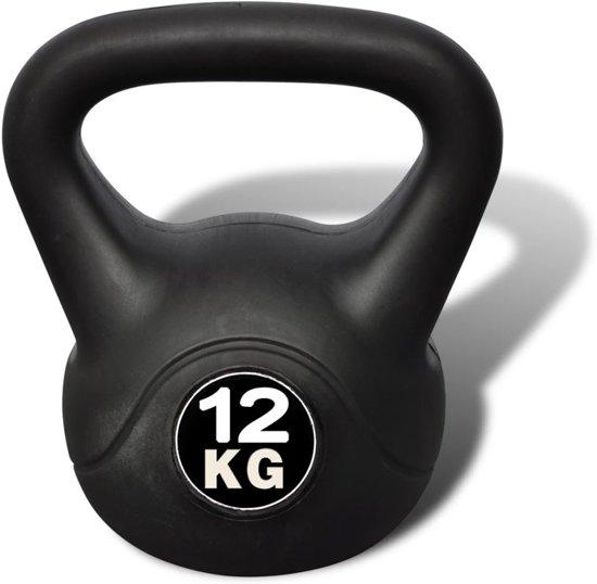 Vida XL Kettlebell - 12 kg - Zwart