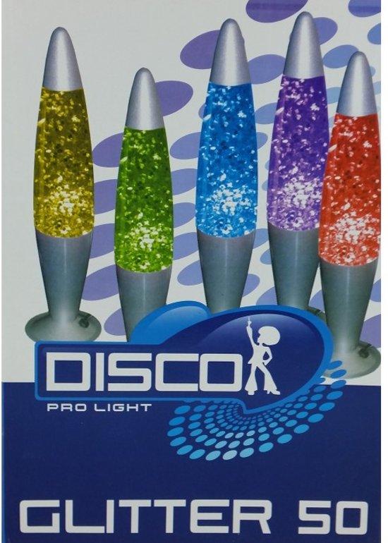 Disco glitter 50 lamp - Geel | 40cm