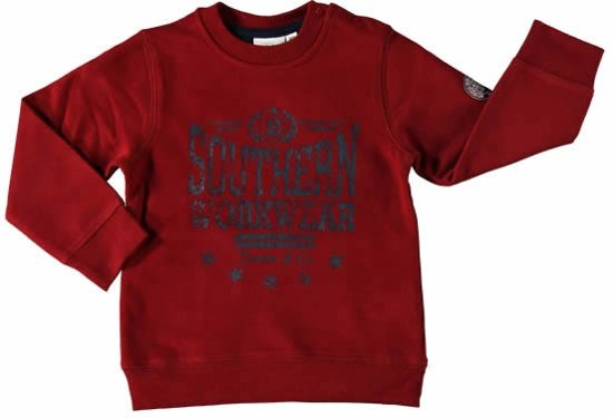 Blue Seven babykleding - Rode sweater - Maat 68