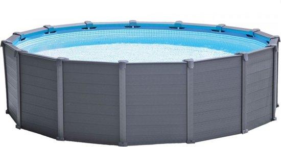 Intex Graphite Panel Zwembad Grijs