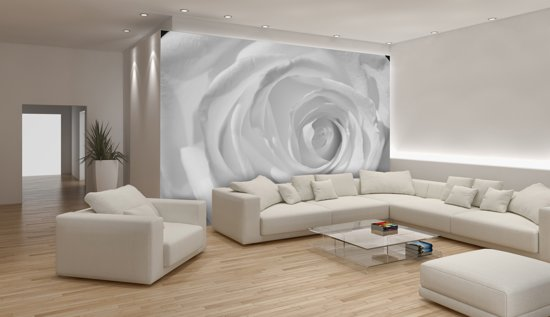 White Photomural, wallcovering