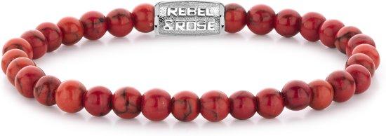 Rebel&Rose armband - Red Delight - 6mm