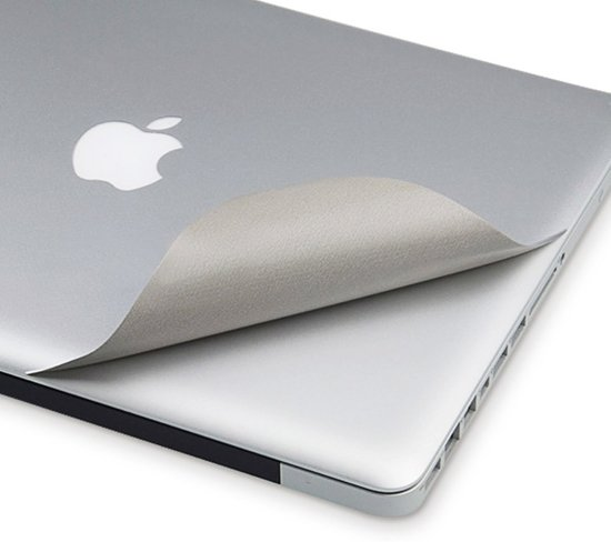 Macbook Sticker voor New MacBook PRO 13 inch 2016/2017 - Sticker - Zilver