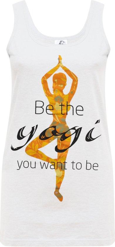 "Yoga-Tank-Top ""Yogi"" - white M Sporttop performance YOGISTAR"
