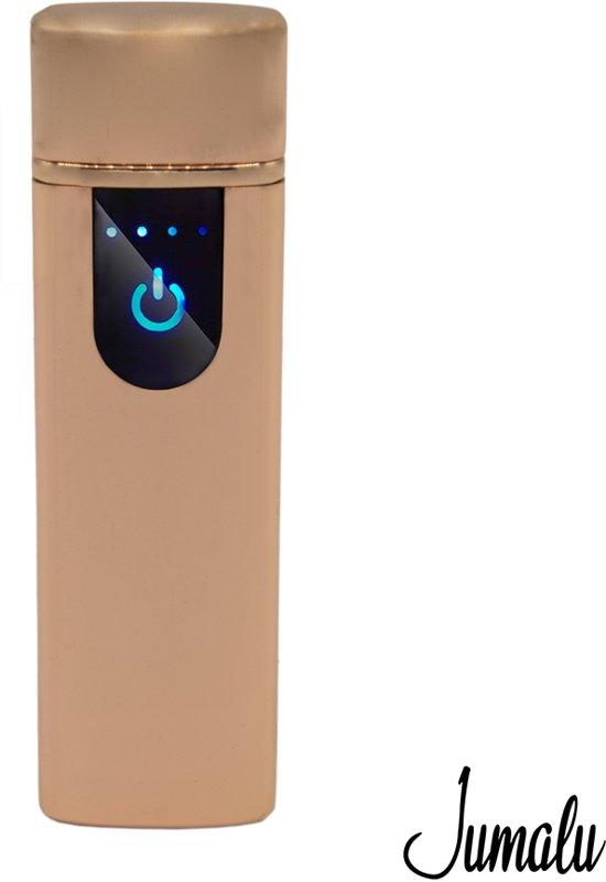 USB touch aansteker - Elektrische aansteker - Touchscreen Lighter windproof - Roségoud