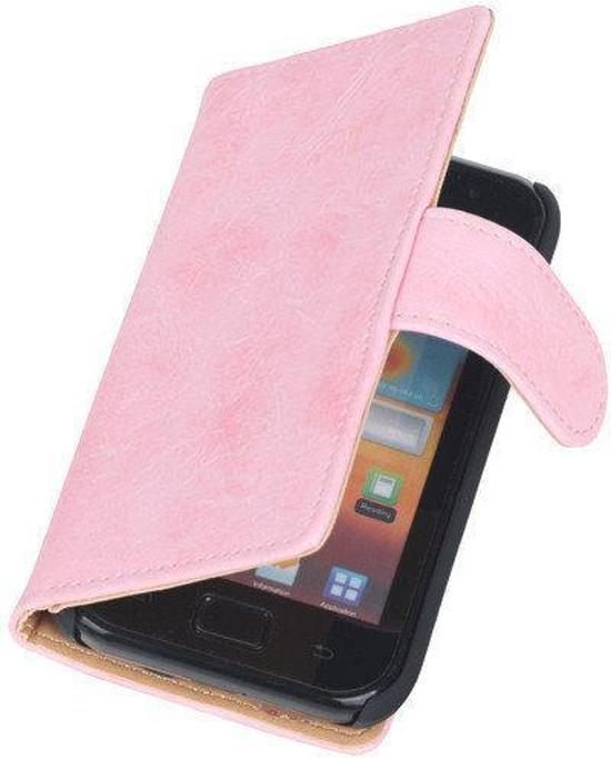 Bestcases Vintage Light Pink Book Cover Samsung Galaxy Core i8260