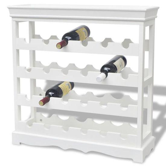 Premium Wijnrek Wit Wijn Kast 42x42x85 Cm Wijn Rek Wijn Accessoire