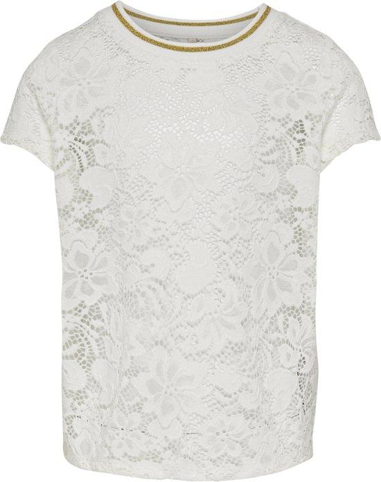45a33d41 bol.com   Kids ONLY Meisjes T-shirt - Cloud Dancer - Maat 146/152