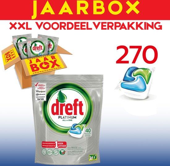Dreft All in One Platinum - 270 Stuks - Vaatwastabletten - Jaarbox - Voordeelverpakking