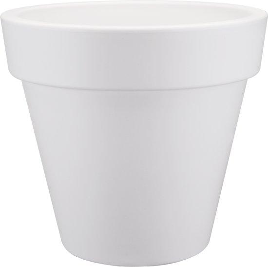 elho pure round bloempot 40 cm - Wit