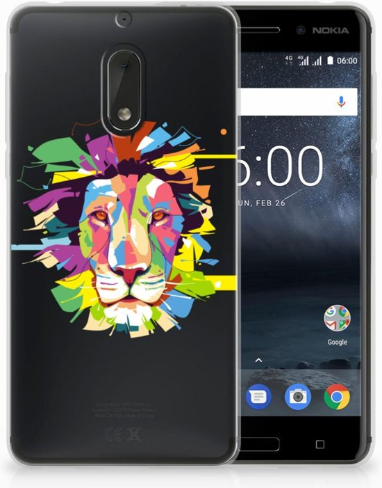 Nokia 6 Uniek TPU Hoesje Lion Color
