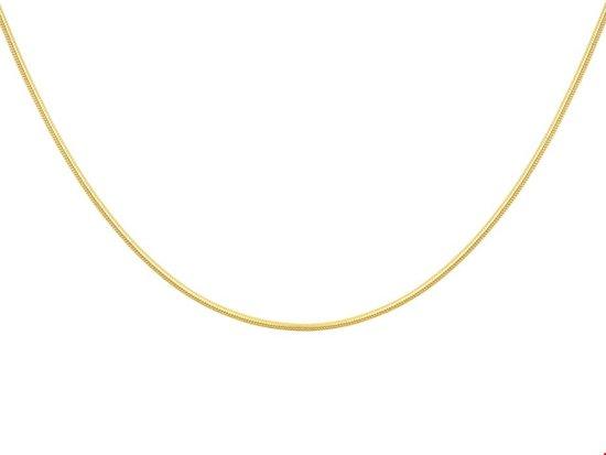 Huiscollectie 4004360 Collier Geelgoud Slang Rond 0,9 mm